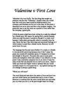 a comparison of my box by gillian clarke and  valentine v first love valentine is by ann duffy the first thing that