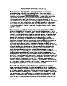 poetry seamus heaney long essay gcse english marked by  page 1 zoom in