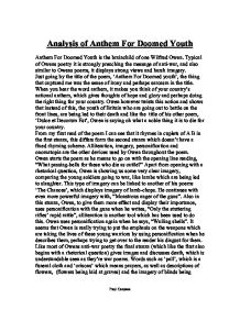 poetry analysis of anthem for doomed youth