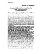an analysis of the love poetry coursework An analysis of sonnet 18 by william shakespeare written by: trent lorcher • edited by: sforsyth • updated: 4/17/2012 this analysis takes a look at one of shakespeare's most famous sonnets sonnet 18 is a classic love poem.
