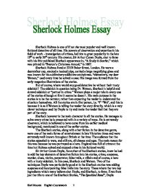 sherlock holmes 6 essay The complete sherlock holmes by arthur conan doyle  plays, and essays across a wide range of genres his most famous creation is the detective sherlock holmes,.