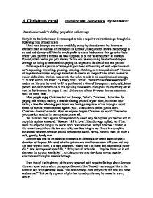 christmas carol gcse coursework Category: gcse english literature coursework title: charles dickens christmas carol charles dickens essays] 1883 words (54 pages) powerful essays.