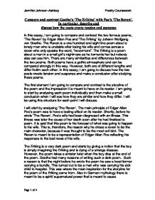 Racism Essay Conclusion The Raven Analysis Essay Custom Paper Service The Raven Analysis Essay Light In August Essay also Any Essay The Raven Analysis Essay Edgar Allan Poe Literary Analysis Essay  Apa Format Essays
