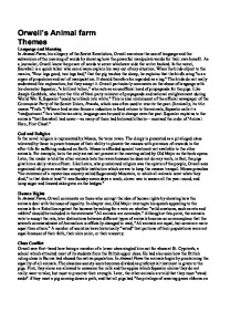 Themes in animal farm essay introduction