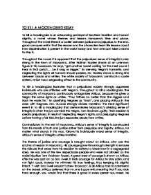 to kill a mockingbird essay gcse english marked by teachers com page 1 zoom in