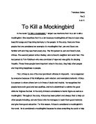 harper lee gcse english marked by teachers com to kill a mockingbird in the novel to kill a mockingbird harper lee mentions that it is a sin to kill a mockingbird she describes that it is a sin