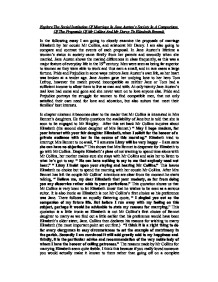 the proposals received by elizabeth bennet from mr collins and mr darcy essay Darcy treats mr collins with contempt, but mr collins is so obtuse that he does not notice at supper, mrs bennet discusses the hoped-for union of bingley and jane so loudly that elizabeth criticizes her, noting that darcy is listening.