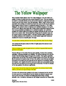 essays written on the yellow wallpaper coursework example  essays written on the yellow wallpaper the yellow wallpaper essays over   the yellow wallpaper