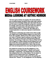 the genre of stokers dracula essay Full title dracula author bram stoker type of work novel genre gothic, horror language english time and place written 1891 - 1897 london, england.