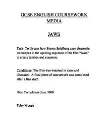 Jaws Essay: Cinematic techniques?