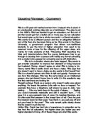 educating rita essay topics 2 educating rita essay rat bohemia and the aids - 1391 words educating rita good morning s5 • in today's lesson • act 1 scene 5 • characterisation - rita and frank • tragedy act 1 scene 5 summary • rita reveals that denny has burned all her books .