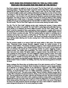 da vinci code essay gcse english marked by teachers com page 1 zoom in