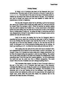 araby essay introduction My goal in this essay is to analyze the main character of the literary work and to show how the traits of his character contribute to the overall theme of the story the traits of the main character in the short story araby and the way the author portrays these traits.