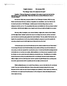 stevensons portrayal of good and evil and the nature of mankind essay We will write a custom essay sample on is evil really the nature of mankind   discuss stevensons portrayal of the nature of good and evil and the dual nature  of.