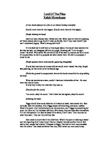 lord of the flies ralph monologue gcse english marked by  page 1