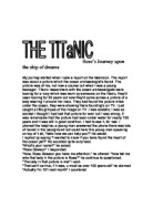 titanic movie review essay