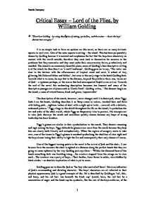 lord of the flies by william golding show how golding by using  page 1 zoom in