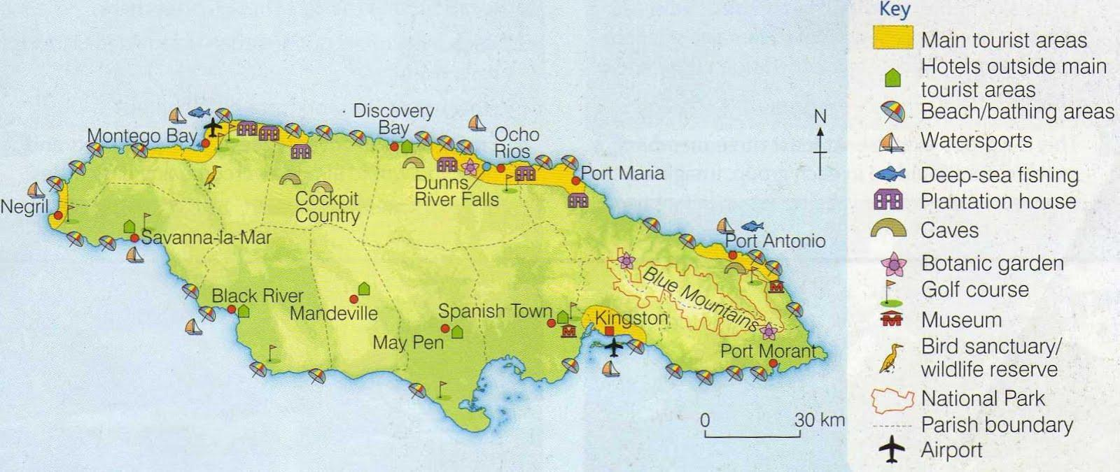 Mass tourism and Tourism in Jamaica case study GCSE Geography – Tourist Attractions Map In Jamaica
