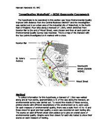 Geography coursework environmental quality
