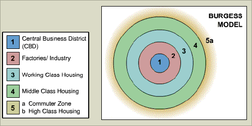 burgess model geography coursework 0 geography coursework how does the demand for land and services change as we move away from the cbd of houston year 11.