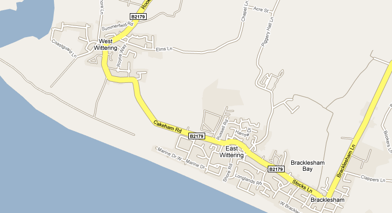 west wittering map