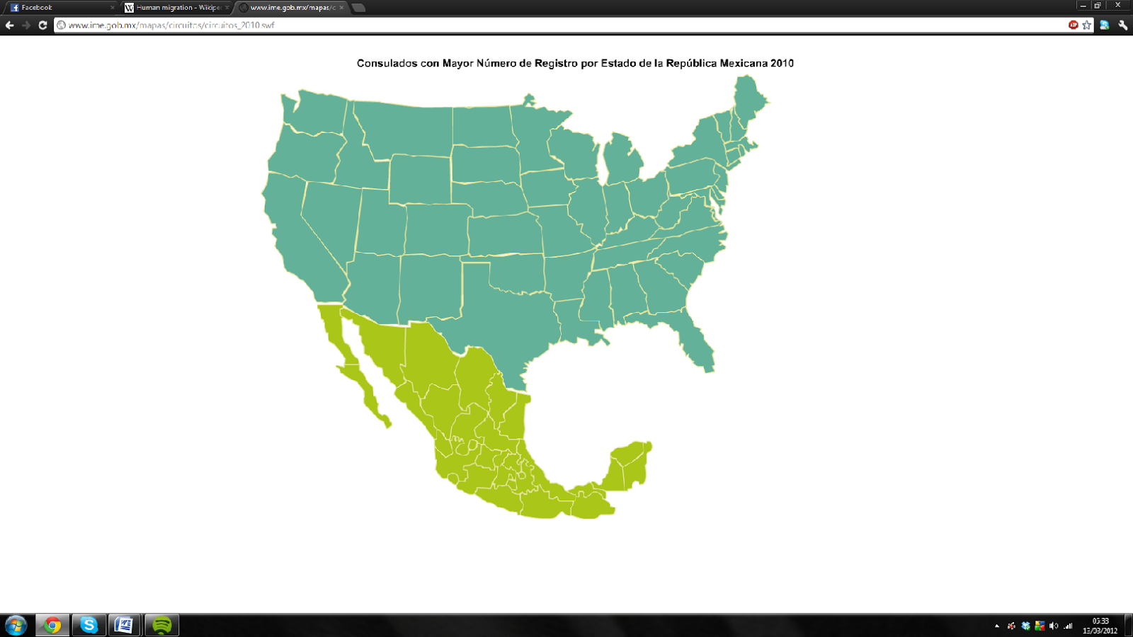 Mexico To USA Migration Case Study GCSE Geography Marked By - Map usa and mexico