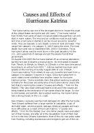 Research paper on hurricane katrina