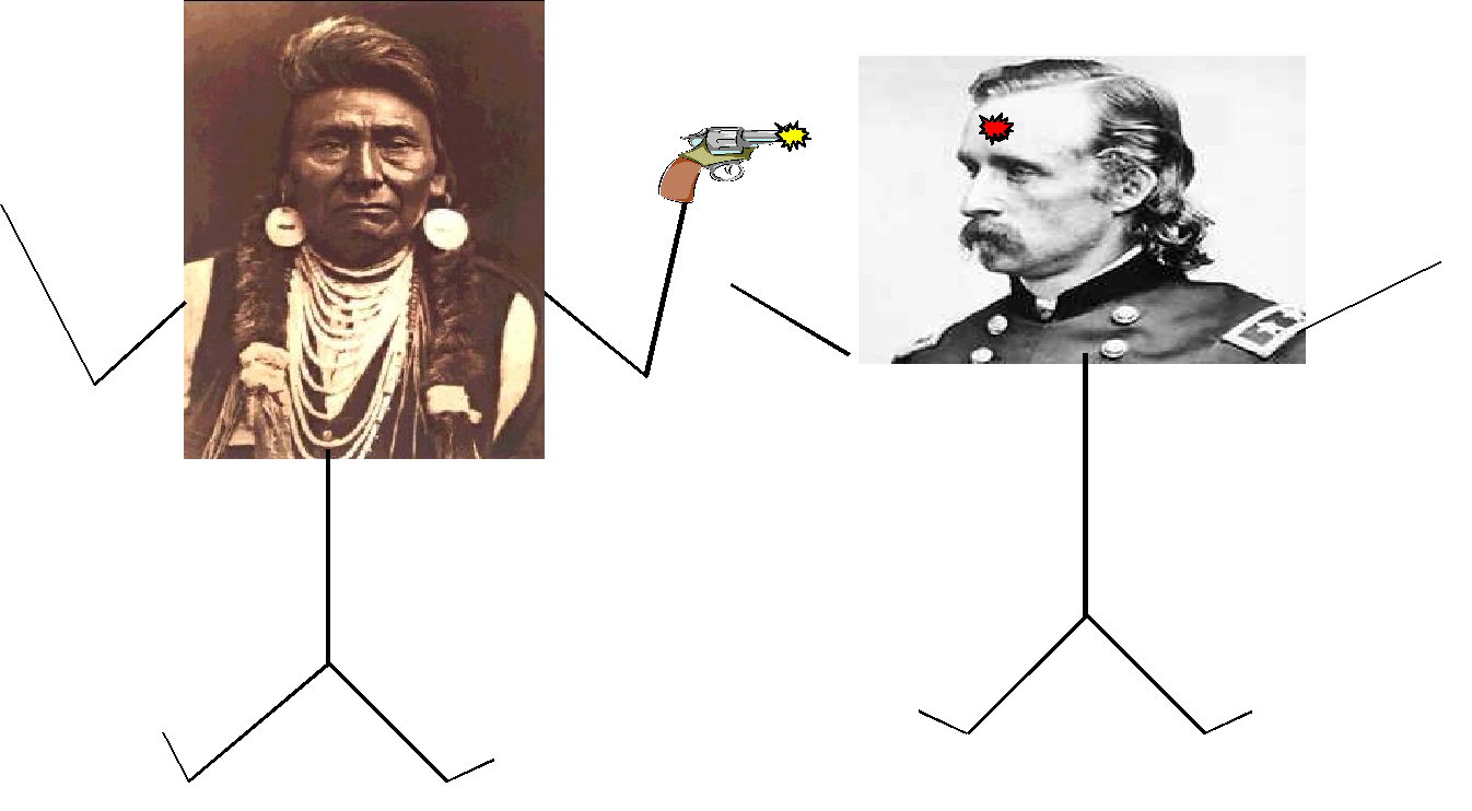 Rick Williams impersonates George Armstrong Custer  Williams specializes in  the controversial military leader s Civil War experiences  but some of his