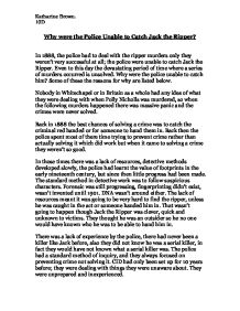 the murders of jack the ripper essay Miscellaneous essays: the victims of jack the ripper search browse he even performed some of his gruesome murders right in the street and left his victims to.