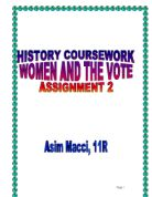 gcse history suffragettes coursework Gcse history introduction on the examined units at the end of year 11 and the coursework unit during topics we look at include the suffragettes.