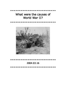 causes of ww1 essay conclusion