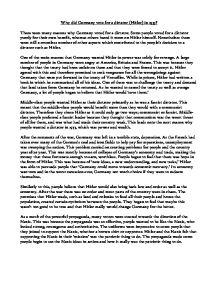 Hitler Summary & Study Guide