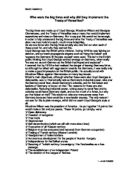 Essay on the treaty of versailles