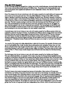 history essay why did world war one happen gcse history marked  page 1 zoom in