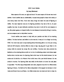 English Essay Books Trench Warfare Trench Warfare Was Created To Help  Do My Assignment Me Uk also Narrative Essay Sample Papers Trench Diary Assignment  Gcse History  Marked By Teacherscom Argument Essay Thesis Statement