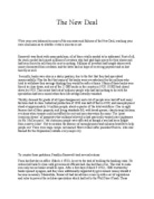 Success And Failures Of The Newdeal  Gcse History  Marked By  Write Your Own Balanced Account Of The Successes And  Reflective Essay Thesis Statement Examples also Science Essay  Narrative Essay Topics For High School Students