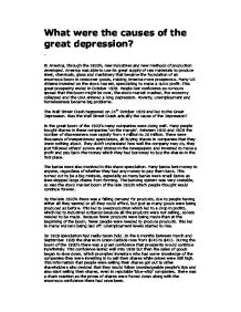 The Great Depression - A Curriculum for High School Students