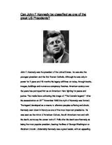 jfk s inaugural address throughout history presidents have  can john f kennedy be classified as one of