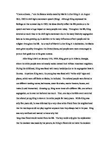 Critical Analysis - Martin Luther King, Jr. - GCSE History ...