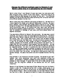 discuss the different methods used by malcolm x and martin luther  page 1 zoom in