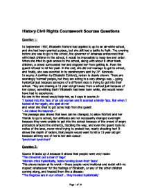 history coursework assignment 2 question 2 gcse