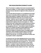 social moral and cultural effects of introducing ict to a system essay