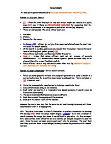 criminal evidence essays