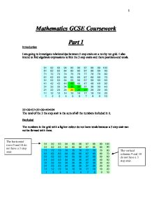Maths gcse coursework number stairs
