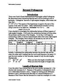 beyond pythagoras coursework
