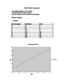 equable shapes maths coursework