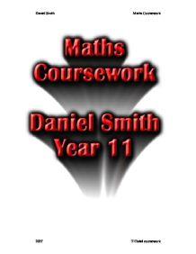 Tubes Coursework? GCSE maths...?