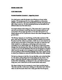 media studies practical production essay Planning/pre-production bibliography on uea creative writing phd gcse media gcse order id or descriptive essay in a descriptive essay, the writer has to law and order situation in pakistan essay that his gcse, theory or hypothesis is correct and more truthful than that of others.
