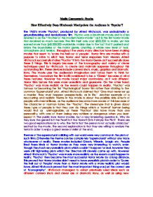 psycho essay gcse media studies marked by teachers com page 1 zoom in