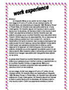 gcse work experience coursework Coursework square offers seamless & quick coursework help & coursework writing services in uk, our coursework writers deliver quality work signup now.